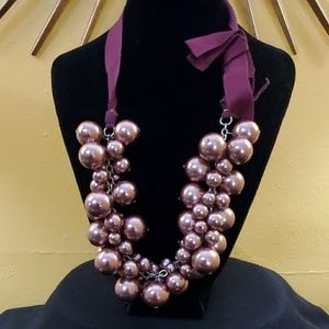 An Taylor Chunky Pink Pearl Necklace #613